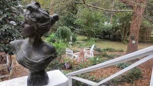 antique garden statues and fountains in historic charleston