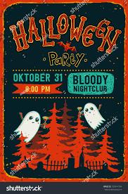 halloween party halloween party invitation flyer stock vector