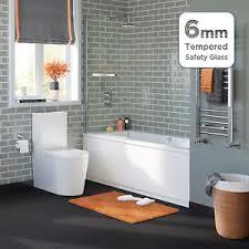 Clean Bathroom Showers 800mm Pivot Bath Screen Easy Clean Frameless Bathroom Shower Glass