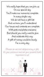 wedding gift list wording 80 mini cards to politely ask for wedding gifts of ebay