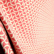 squiggle coral pink trellis fabric from thefabricco on etsy studio