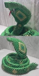 Origami Snake - 3d origami snake by xanokah on deviantart