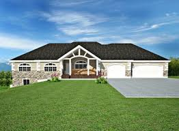 The G442 50x30x12 Garage Plans Free House Plan Reviews by H106 Ranch Custom Classic House Plans Salon In Basement 2200 Sq Ft