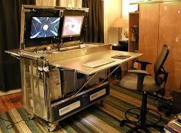 fabriquer un bureau informatique diy un bureau informatique mobile réalisé à partir de pièces ikea