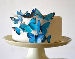 butterfly cake toppers edible butterflies decorations for cakes by sugarrobot on etsy