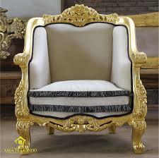 Modern Single Sofa Gold Leaf Sofa Set Shantika Javateakindo