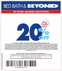 bed bath beyond 20 off bed bath and beyond online coupon code 20 off entire purchase