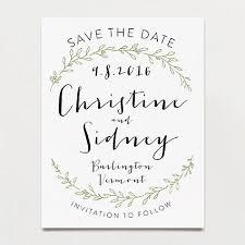 olive branch save the date postcard printable press wedding