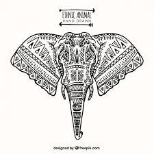 ethnic ornamental elephant vector free