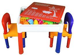 Children S Lego Table Amazon Com Kids Table U0026 Chairs 3 In 1 Lego U0026 Duplo Compatible