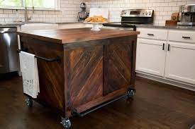kitchen island with casters vintage wood kitchen island country kitchen hgtv
