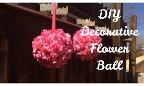Home Decor Balls Diy Decorative Flower Ball Youtube