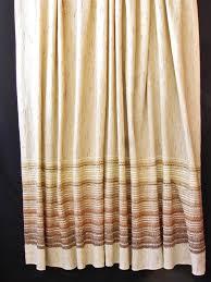 Brown Burlap Curtains Modern Burlap Curtain Panel Pair Retro Wheat Rust Brown