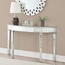 Sei Mirrored Vanity Mirage Mirrored 2 Drawer Console Table Hayneedle