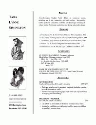 resumes for high students in contests art admissions resume