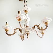 porcelain chandelier roses vintage 5 arm capodimonte style floral porcelain chandelier light