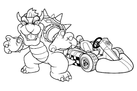 mario kart wii coloring pages coloring pages 6143