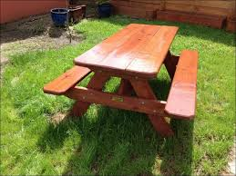 Folding Picnic Table With Benches Exteriors Awesome How To Make A Picnic Bench Picnic Table Bench