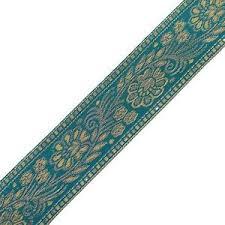 ribbon trim ethnic sari border blue india ribbon trim weaving fabric craft lace