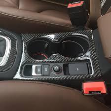 audi q3 modified car styling gear shift panel decorative cover trim carbon fiber