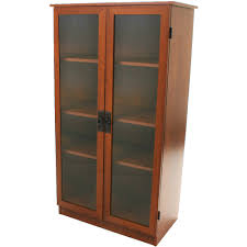 Cd And Dvd Storage Cabinet With Doors Oak Finish Storage Cabinets With Doors