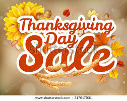 thanksgiving day sale headline template eps stock vector 317617724