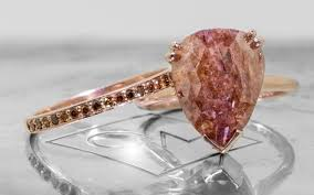 natural diamond rings images 7 21 carat rich cognac diamond ring in rose gold chinchar maloney jpg