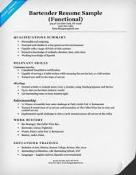 bartender resume template australian newscaster shirt how to get a real education at college combo functional resume