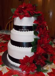 poinsettia wedding cakecentral com