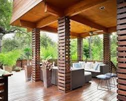 ringhiera in legno per giardino coperture in legno per terrazzi veranda