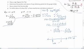 graphing a rational function using derivative youtube