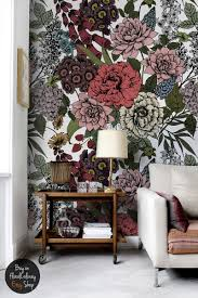 autumn flowers wall mural beauty floral wallpaper zoom