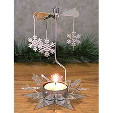 spinning metal candle holder reindeer charms spin