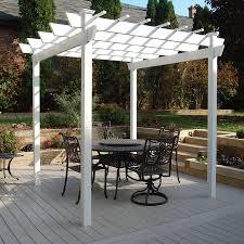 garden treasures square pergola with canopy home outdoor decoration