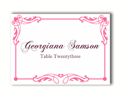 Table Card Template by Place Cards Wedding Place Card Template Diy Editable Printable
