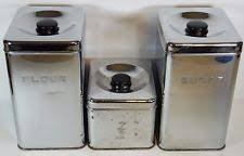 vintage metal kitchen canisters retro canisters ebay