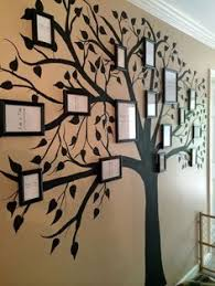 our painted tree wall diy family tree white and grey on