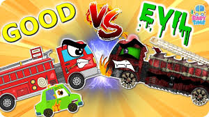 halloween movies for kids youtube fire truck war good vs evil scary fire vehicles halloween