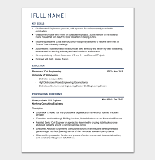 Environmental Engineer Resume Civil Engineer Resume Example Resume Example And Free Resume Maker