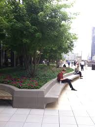 Chicago Patio Design by Chicago Plaza Photo 2 Great Use Of Concrete And Vegetation