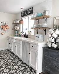 open shelving in the kitchen rustic cottage farm pinterest