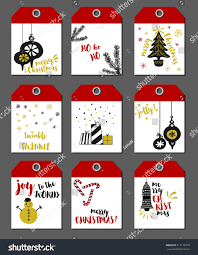 christmas tags set 9 hand drawn stock vector 517179370 shutterstock
