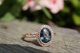 london blue topaz engagement ring london blue topaz diamond halo ring mills jewelers