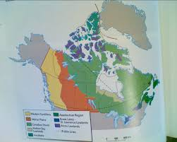 Canada Physical Map Interactions In The Physical Environment Phs Geography