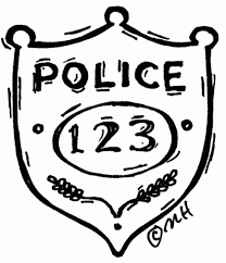 police badge coloring page paginone biz