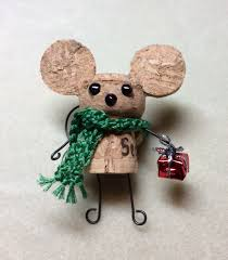 our version of the cork mouse for our holiday bazaar used a