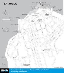San Diego Trolley Map Pacific Coast Route Sights In La Jolla California Road Trip Usa