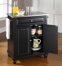 buy cambridge stainless steel top portable kitchen island w bun feet