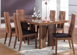 dining table glass dining table and black leather chairs dining
