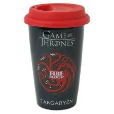 house targaryen travel mug ceramic silicone lid thermal game of